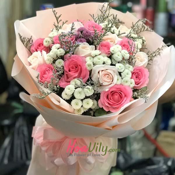 Hoa tình yêu tặng bạn gái