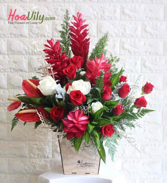 Hộp hoa ngày thầy thuốc Việt Nam