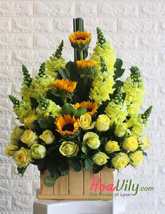 mẫu hộp gỗ cắm hoa