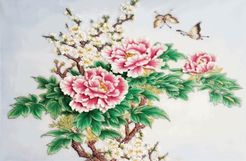 Bộ tranh hoa mẫu đơn đẹp treo trong phòng ngủ